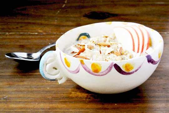 Zuppa di avena, Miele di Acacia e frutta fresca